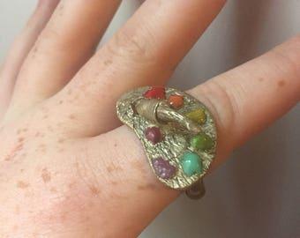 Art Palette Ring- Size 9.5-10