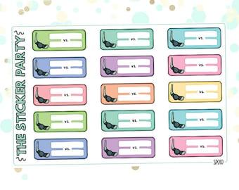 Hockey Planner Stickers Hockey VS.