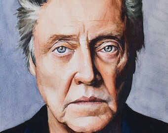 Watercolor and Gouache - Christopher Walken - Print on Paper