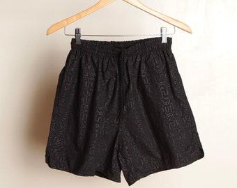 ADIDAS # 90 s noir des hommes Vintage sur noir homme athletic shorts homme petite taille