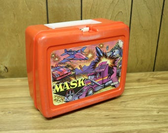 Awesome Vintage MASK Lunchbox with Thermos - Thermos Brand - 1985 - Mobile Armored Strike Kommand - M.A.S.K.