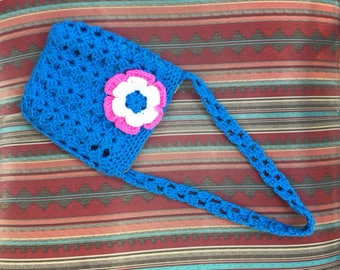 Beautiful Crochet Bag with Flower