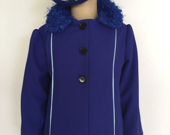 Blue coat and hat