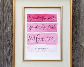 You Are Precious, 5x7 Hand Lettered Printable