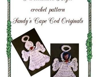 Personalied Angel Ornament Crochet Pattern PDF 298
