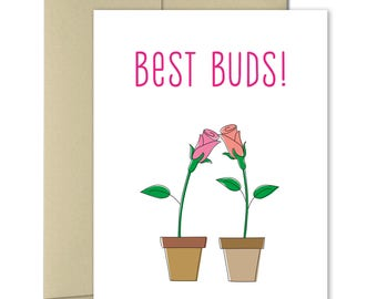 Friendship Card - Card for girlfriend - Best friend forever - Birthday for friend - Pen Pals - Snail mail - Thinking of you - Best Buds