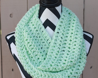 Ready to Ship Mint Green Infinity Scarf