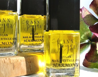 HARMONY Nail and Cuticle Oil, Vegan Products, Cruelty Free Nail Care, Gift Ideas, Argan Oil, Jojoba Oil, Avocado Oil, Beauty Care, AnnBoyar