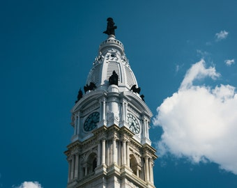 City Hall, in the Center City in Philadelphia, Pennsylvania. Photo Print, Metal, Canvas, Framed.