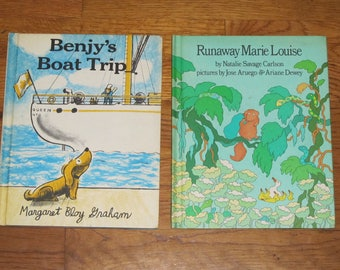 Pair of Weekly Reader Book Club Oversize Hardcovers from 1977