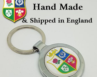 Made to Order British and Irish Lions Key Ring - A Great Gift