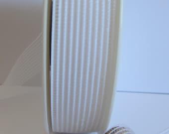 Shirring elastic white 30 mm the meter