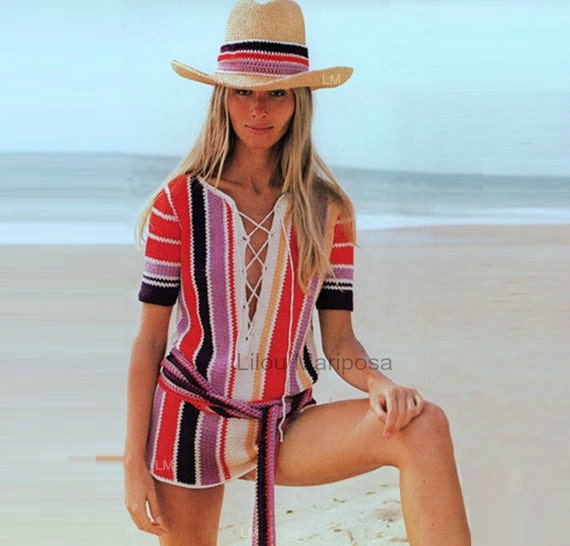 Patron de crochet pdf de tejido crochet blusa tunica de
