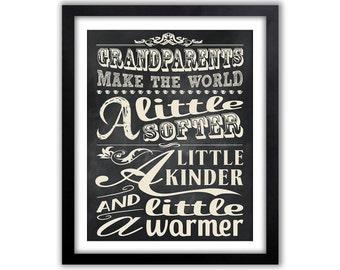 Grandparent Quote - Gift For Grandparents - Gift From Grandchildren - Gift For MiMi - Gift For Grandma - Grandpa Gift