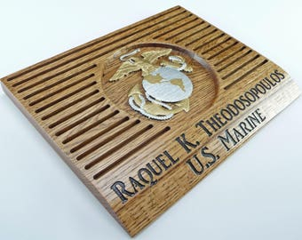 MARINE COIN HOLDER Display Custom Personalized Military Challenge Coins United States Retirement Promotion Gift