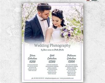 Wedding Pricing Template - Wedding Photography Pricing Guide Template - Photography Price List - Wedding Photography Marketing Template