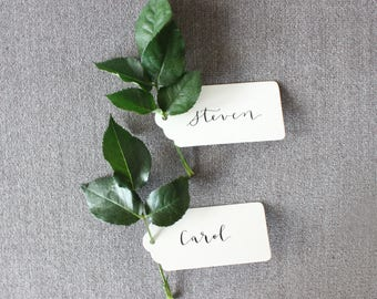 Modern Calligraphy | Wedding Calligraphy | Name Tags | Escort Cards | Wedding | Dinner Party | Party Decor | Gift Tags