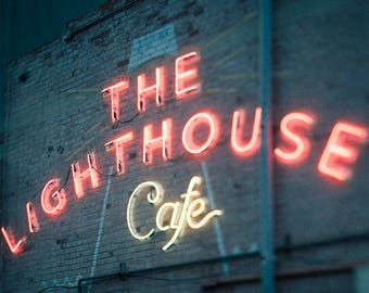 The Lighthouse Cafe, La La Land, Los Angeles, Hollywood photography, art print, Los Angeles print, music, film, Hermosa Beach, Famous