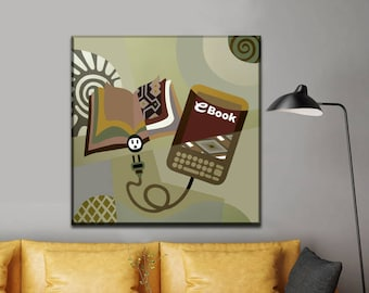Evolution Painting, Original Abstract Painting, Original Abstract Art Canvas, Geometric Art, Geometric Painting, Abstract Geometric Painting