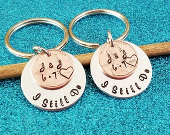 I Still Do Keychain, Couples Keychains, Anniversary Keychain, Husband Gift, Anniversary Gift for Husband, Personalized Gift for Him, Penny