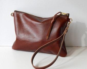 Small Leather Crossbody Bag Leather Purse Minimalist Bag Small Leather Bag Leather Gift Leather Handbag Birthday Gift Handmade - In Whiskey