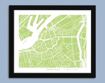 Gothenburg map, Gothenburg city map art, Gothenburg wall art poster, Gothenburg decorative map