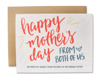 Happy Mother's Day (From the Both of Us) Card