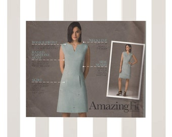 Amazing Fit Shift Dress Simplicity 2404 Individual Fit for All Figure Types Sizes 6 8 10 12 14 Bust 30-36 Uncut Sewing Pattern