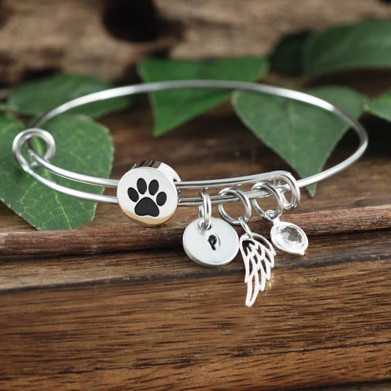 loss charm on adjustable shop bracelet kitten gift wanelo pet expandable white bracelets cat bangle memorial gold