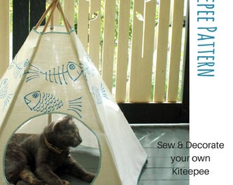 Kiteepee Sewing Pattern, DIY, Make your own Kiteepee