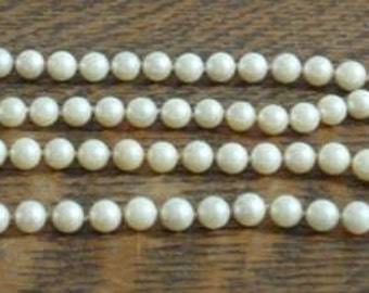 5mm pearls with 14K white gold clasp