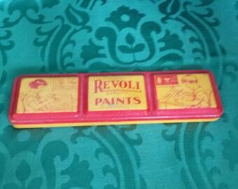 Vintage Tin Paint Box with Paints