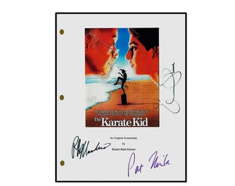 The Karate Kid Signed Movie Script -Rpt. Ralph Macchio, Pat Mortia, Elisabeth Shue
