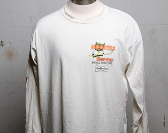 Vintage 90's HOOTERS Night Owls Hockey Warwick Rhode Island LS T Shirt XL