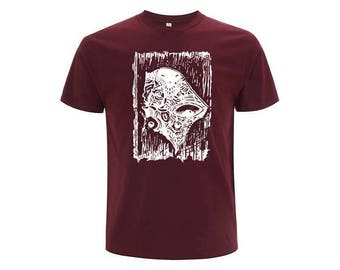 Burgundy unisex organic cotton T-shirt OKIKO