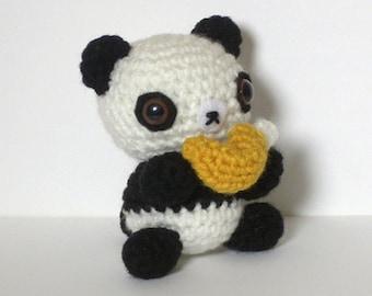 Fortune Cookie Panda Crochet Plush