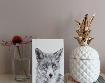 fox greetings card | greetings card | fox illustration | fox card