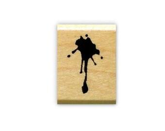 Splat mounted rubber stamp, spill, mess, grunge, paint splatter, blood drip, Sweet Grass Stamps No. 15