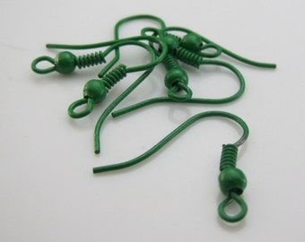 20 Green Earring Wires Ear Wires Earring Findings Earring Hooks U.S Seller - ew075