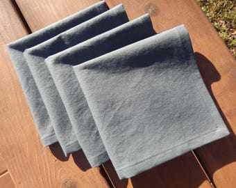 Linen napkins / Linen blend napkins / Gray napkins / Set of 4