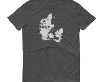 Denmark, Danish Clothing, Denmark Shirt, Danish T Shirt, Denmark TShirt, Denmark Map, Denmark Gifts, Made in Denmark, Denmark Love Shirt