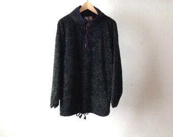 90s SLOUCHY grunge pacific northwest oversize large FLEECE sweatshirt jacket