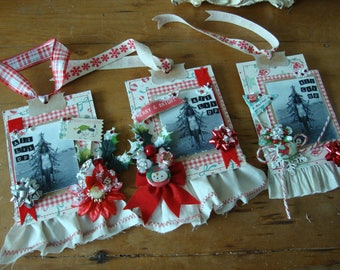 Christmas gift tags for wine lovers Retro Christmas gifts funny for drinking vintage photo pin up girl gift tag paper ornament hostess gift
