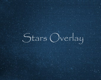 Star Overlay, Set of 3 Real Star Overlays, Star Texture