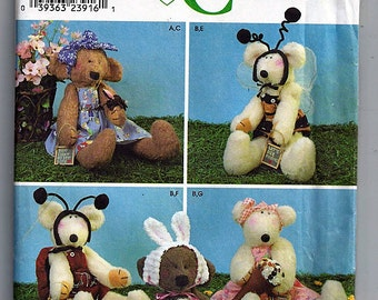 Dream Babies Stuffed Bears and Clothes / Original Simplicity Crafts Uncut Sewing Pattern 9227