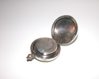 Antique silver plated sovereign holder