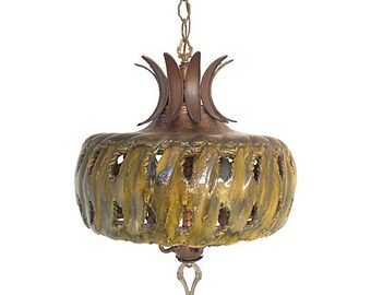 Ceramic chandelier etsy 1960s ceramic chandelier aloadofball Gallery