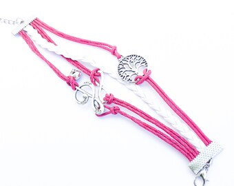 Pink Rope Bracelets
