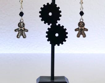 Gingerbread man - Christmas earrings
