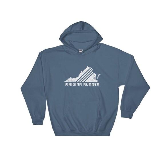 Virginia Runner Hooded Sweatshirt - Unisex - Run Virginia - Hoodie - Heavyweight Sweatshirt